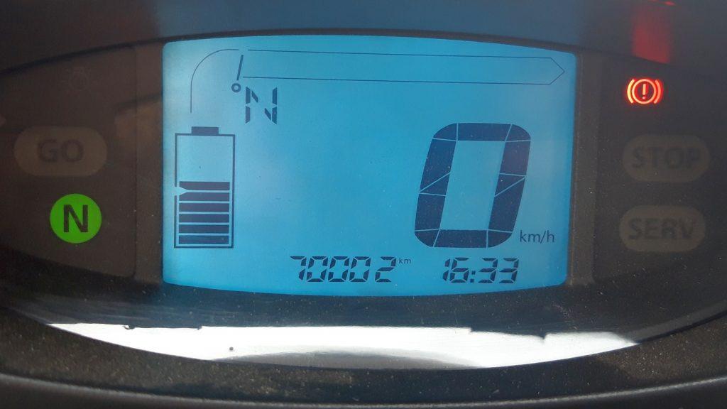 70.000 km erreicht.